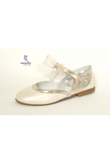 "Bailarina ""Lace Up"" Porcelana"
