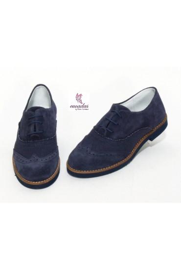 Zapato Oxford Ante Atlántico