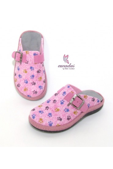 Zueco de Casa Slipper Dog Rosa